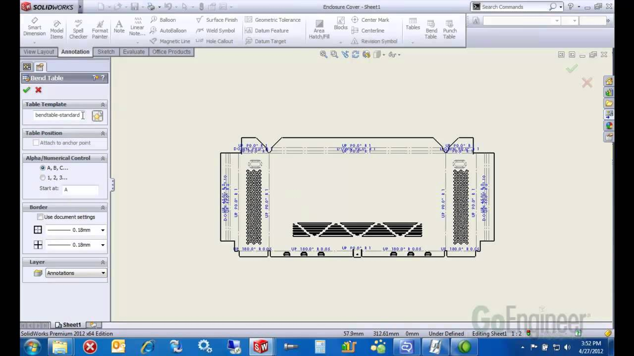 Solidworks Sheet Metal Drawings Youtube