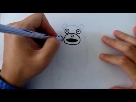 คุมะมง สอนวาดรูป การ์ตูน คุมะมง by วาดการ์ตูนกันเถอะ