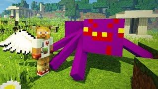Опасные битвы в Minecraft 121 - Босс Абсидиановый ПАУК