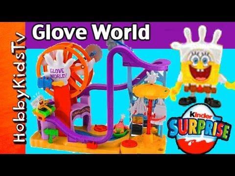 SpongeBob's Glove World Toy Review by HobbyKidsTV