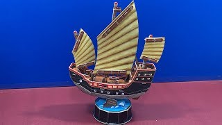 DIY 3D Puzzle Cubicfun CHINESE SAILBOAT