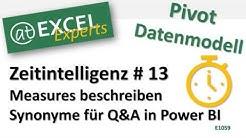 Excel - Pivot -  Measures beschreiben und Synonyme für Q&A - Teil 13