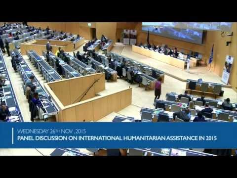Panel Discussion on International humanitarian assistance in 2015 and IOM's role
