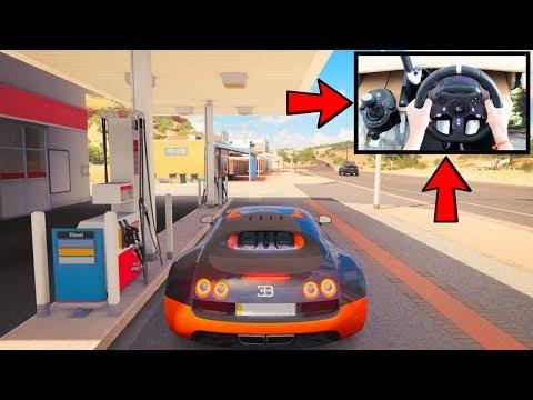 Forza Horizon 3 Driving Bugatti Veyron (Steering Wheel + Paddle Shifters) Gameplay AD