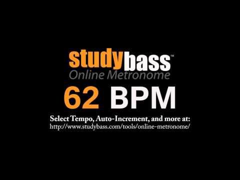 62 BPM Online Metronome (12 Min) | StudyBass