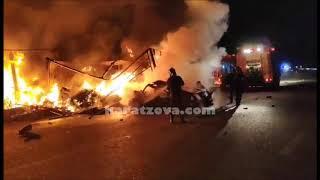 Τραγωδία στην Καβάλα: 11 μετανάστες κάηκαν ζωντανοί σε τροχαίο|karatzova.com