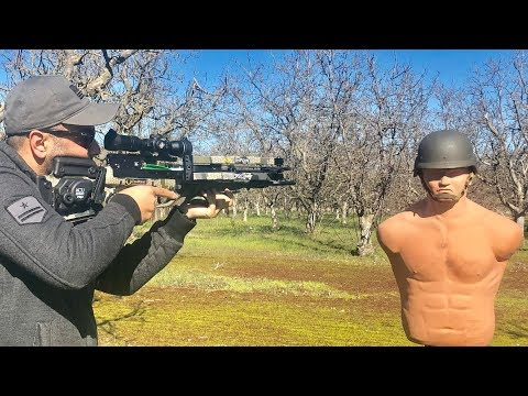 World's Fastest & Most Powerful Crossbow Vs Army Helmet