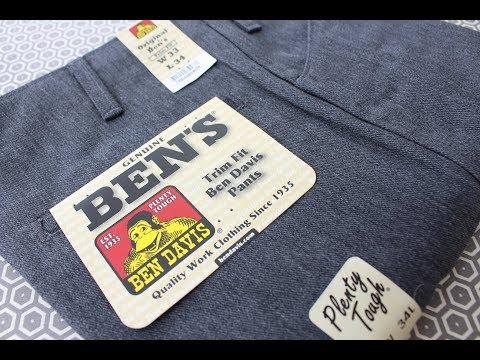 "BEN DAVIS ""Trim Fit"" Work Pants *REVIEW*"