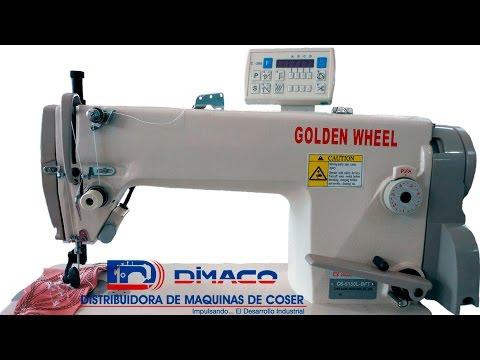 Máquina Plana, 1 aguja, gancho jumbo corta hilo - YouTube
