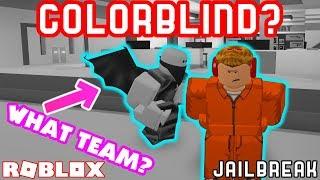 COLORBLIND CHALLENGE IN JAILBREAK! - Roblox Jailbreak Challenges