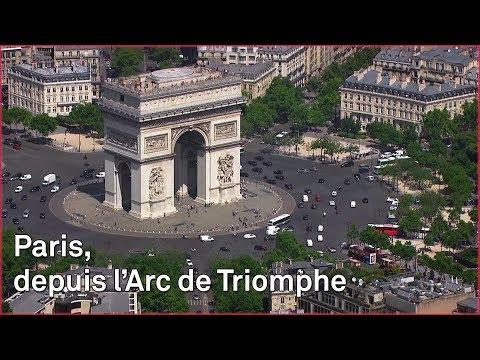Paris, depuis l'Arc de Triomphe