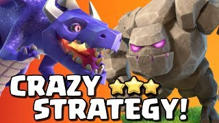 DRAGONS + GOLEMS = CRAZY STRATEGY! How to Use Dragons in Clash of Clans - TH10 Attack Strategy!