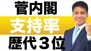 菅内閣 支持率 歴代3位でスタート