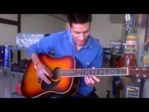 how to play taps hai apna dil awara  complete guitar lesson.only single string quite.easy..
