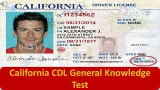 California CDL General Knowledge Test