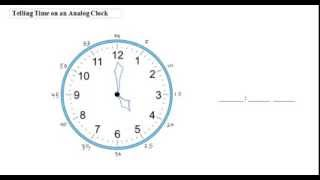 Haitian Creole Math Tutorials - Telling Time On An Analog Clock Hours