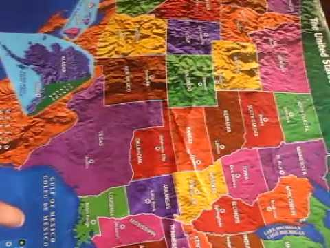 3 yrs old Kyle..explore(can read)the Map of United States