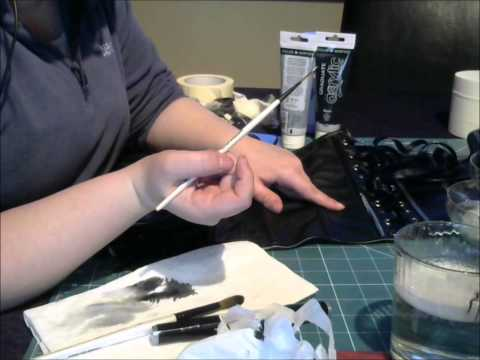 painting faux leather