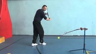 Теннисные тренажеры.. Резанный удар (slice) в теннисе
