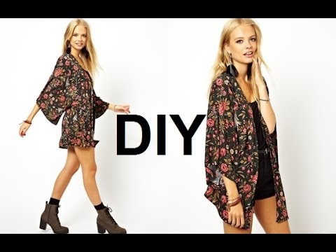 DIY | HOW TO MAKE A KIMONO/CARDIGAN - YouTube