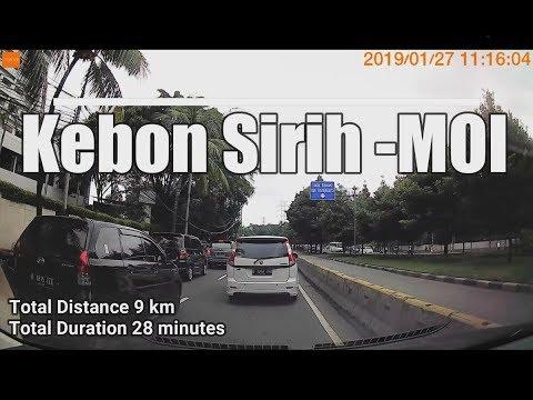 27/01/2019 Kebon Sirih - Mall of Indonesia | Dashcam Timelapse #CARVLOG