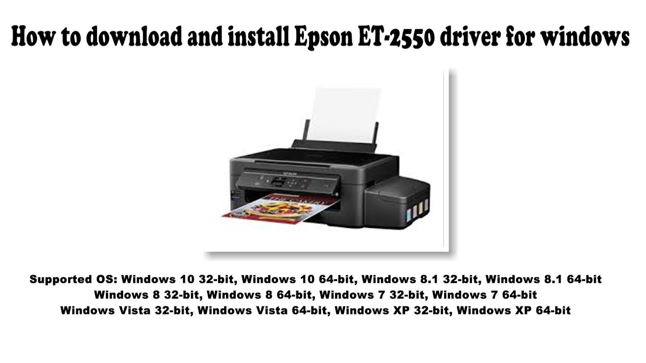 How to download and install Epson ET 100 driver Windows 100, 100 10, 100, 10,  Vista, XP