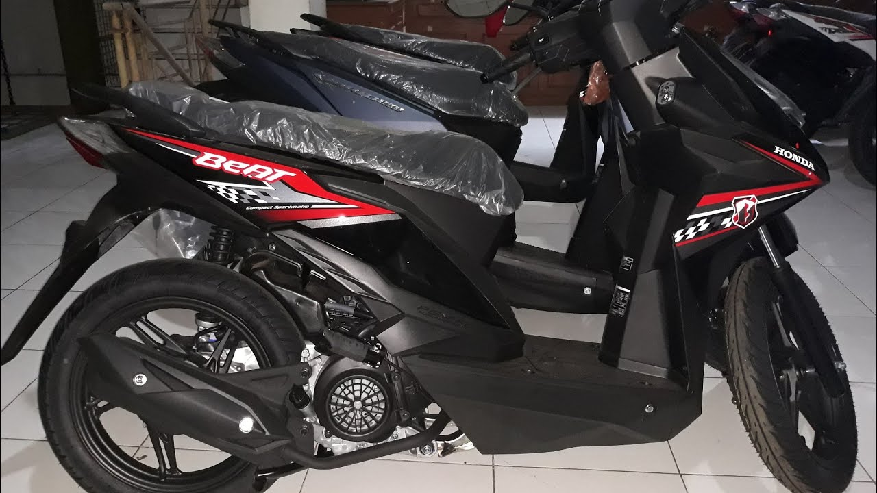 Tampilan Baru Honda Beat Sporty Cw 2018 Hard Rock Black Youtube