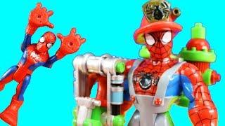 Spider-Man & Friends Uncle Spider-Man Firefighter + Teenage Mutant Ninja Turtles TMNT Bowling