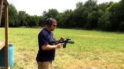 """Ridiculous 4.5"""" 5.56 Barrel on AR15 Pistol First Shots (Shouldering Arm Brace Now Illegal)"""