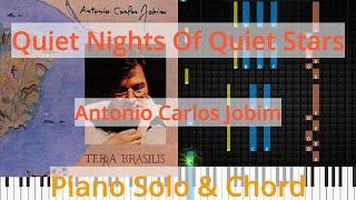 🎹Solo & Chord, Quiet Nights Of Quiet Stars, Antonio Carlos Jobim, Synthesia Piano