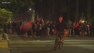 Protesters return to Cesar Chavez Park for 2nd night of demonstrations