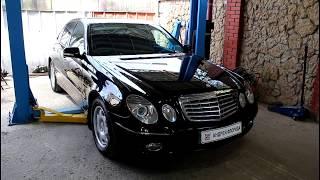 Замена передних тормозных дисков и колодок  Mercedes Benz E Class W211 2,2 Мерседес Бенц 2008 года