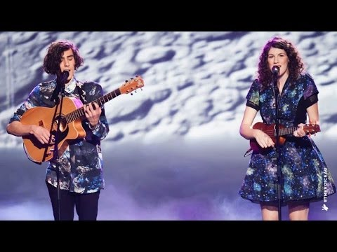 Gabriel & Cecilia sing Walking on a Dream | The Voice Australia 2014