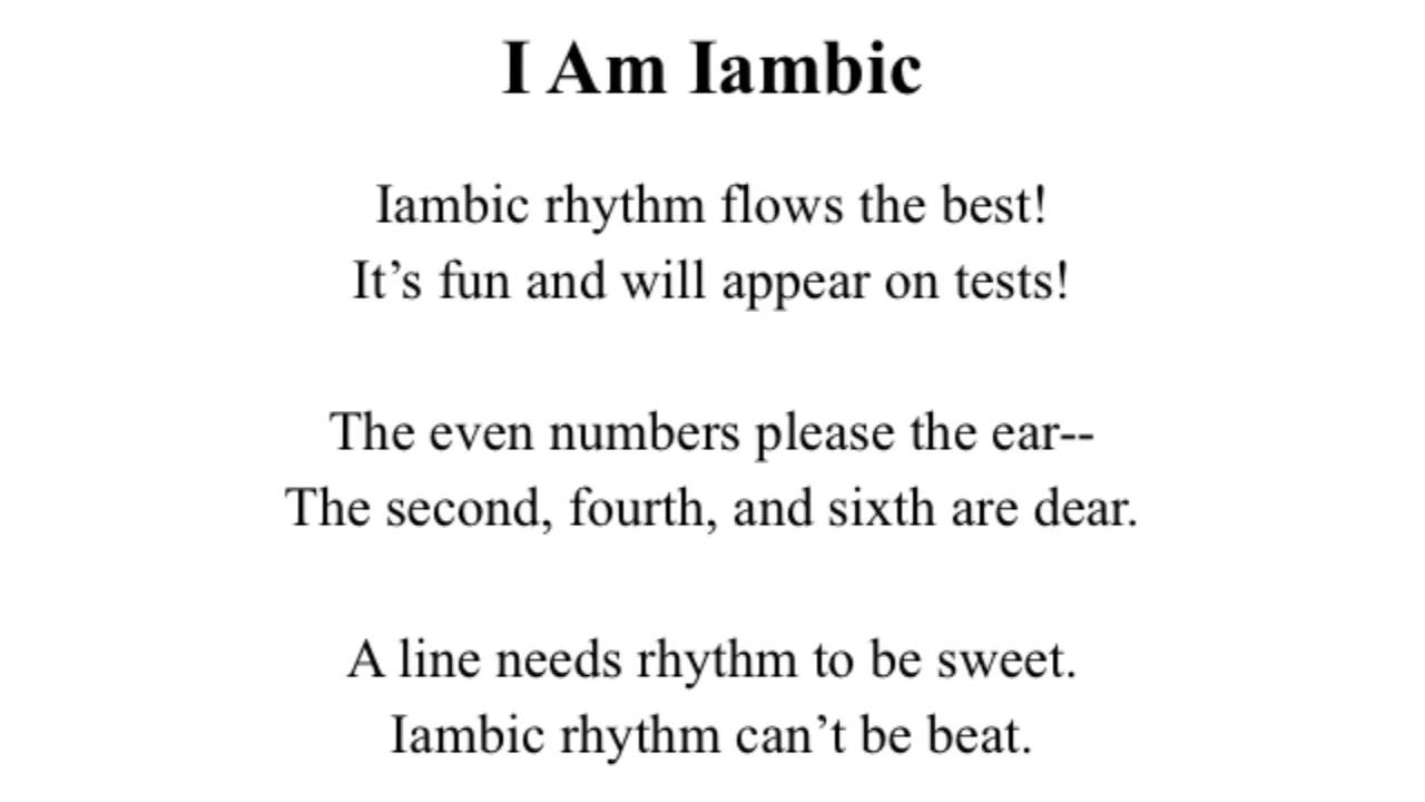 how to write iambic pentameter examples