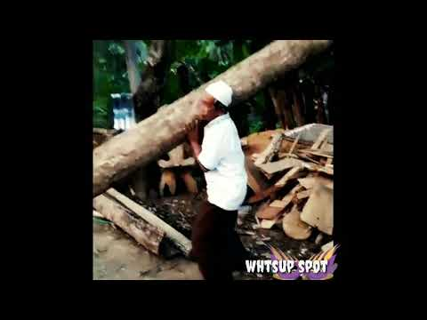 A person lifting the heavy wooden block as a epic bahubali | funny person wooden block|funny whtsup|