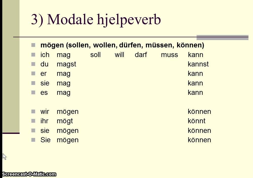 Norsk grammatikk regler verb