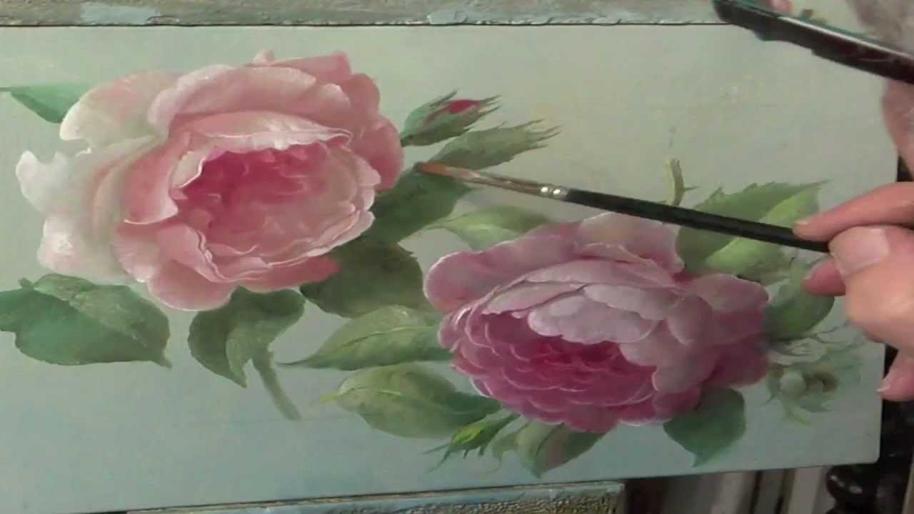 How to paint a rose - YouTube