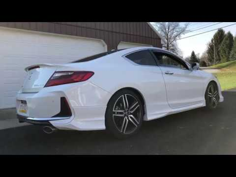 2017 Honda Accord V6 Touring Coupe: HFP Sport Suspension Installed - YouTube