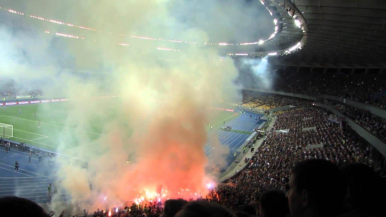 футбол динамо челсі Hd: Шахтар . Фінал кубку України . Фаєра, скандування