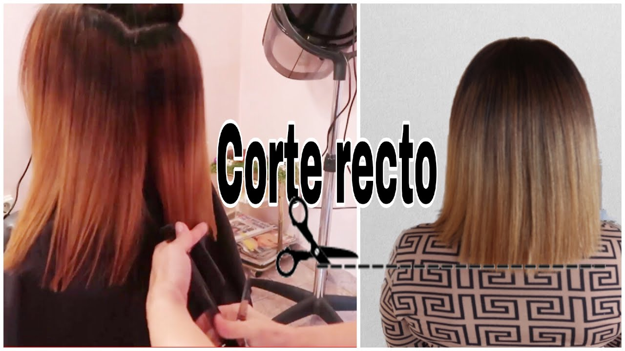Corte De Cabello Recto Youtube