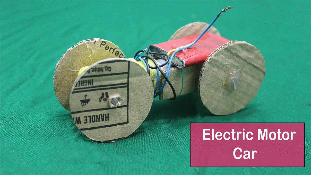 How To Make An Electric Motor Car Youtube