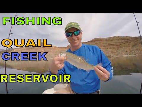 Fishing Quail Creek Reservoir, Utah