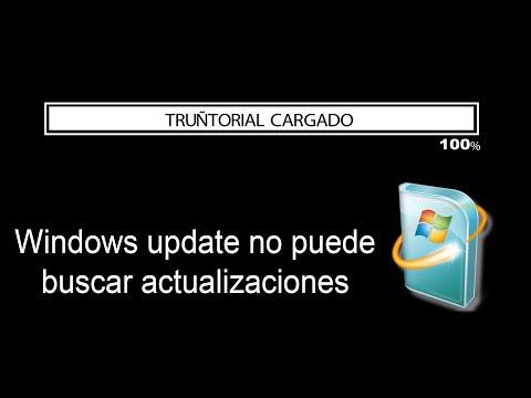 Cómo solucionar error  WIndows update no puede buscar actualizaciones - CMD