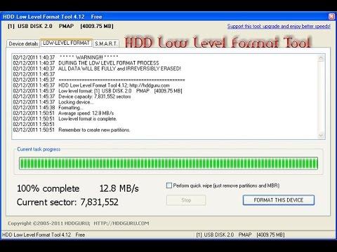 zero fill, Low Level Format