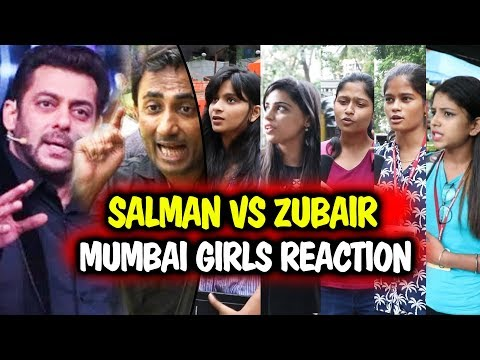 Zubair Khan Vs Salman Khan - Mumbai Girls REACTION - Bigg Boss 11