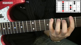 "Die 5 Pentatoniken für Gitarre: ""A Moll Pentatonik Position.1"" - Einfache Übung"