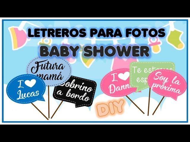 Como hacer letreros para tomar fotos en word para baby shower o fiestas facil DIY paso a paso