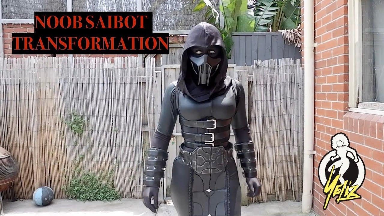 Noob Saibot Cosplay Transformation