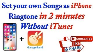 Make ringtone without itunes: you can your iphone using garaeband free app....