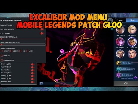 Excalibur Mod Menu ML Patch Gloo - Unlock All Skin, Radar Map, Drone View,  Rank Booster, And Other - YouTube